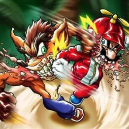 Mario vs Crash Bandicoot