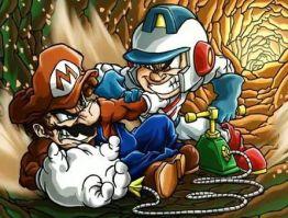 Mario vs Dig Dug