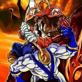 Mario vs Earthworm Jim