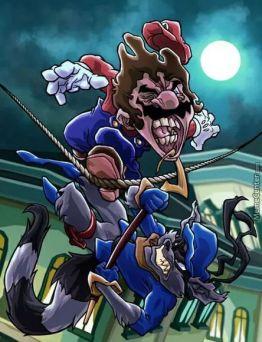 Mario vs Sly Raccoon