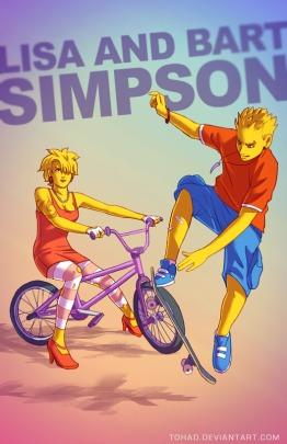 Lisa y Bart Simpsons