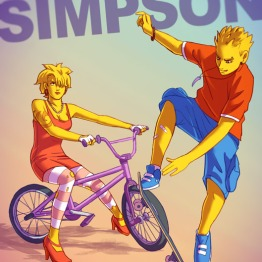 Lisa y Bart Simpsons
